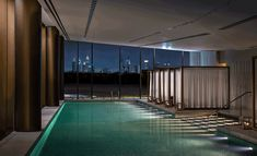 Situated on the manmade Jumeira Bay, an island carved into the shape of a seahorse and adjoined by a bridge to central Dubai coastline, Bulgari Hotel. Dubai Resorts, Dubai Hotel, Luxury Hotel Design, Luxury Hotels, Bulgari Hotels, Piscina Interior, Dubai Airport, Italian Luxury Brands, Leading Hotels