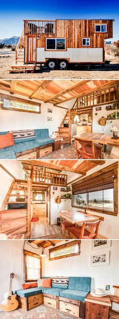 The Peacock is one of two tiny houses available for nightly rental at the Sandy Valley Ranch located an hour outside Las Vegas. #hippie_style_home