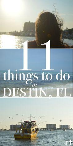 11 things to do in Destin, Florida!! Beach and non-beach activities #destin #florida # beach