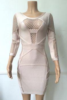 Aliexpress.com   Buy 2016 new women long sleeve celebrity bandage dress  hollow out v ec1167155c3c