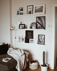 Bilderwand Fotowand Wohnzimmer Inspiration