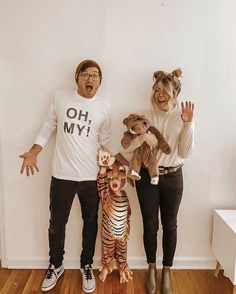 """""""Lions, and tigers, and bears, oh my!"""" 🧡 Happy Halloween from the Poteets! Bear Halloween, Halloween 2020, Fall Halloween, Happy Halloween, Halloween Party, Halloween Decorations, Halloween Makeup, Halloween Ideas, Tiger Costume"""
