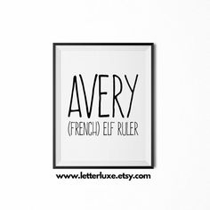 Avery Name Meaning Art  Printable Baby by LetterLuxePrintables