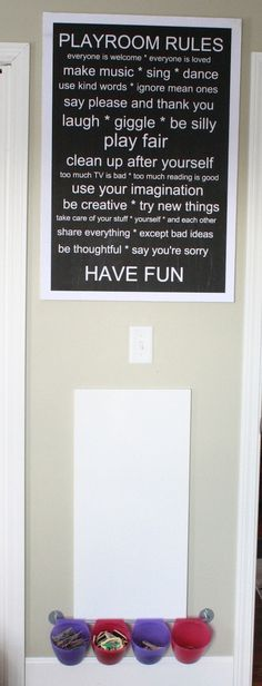 """I want to redesign this """"Playroom Rules"""" and put it in our playroom!"""