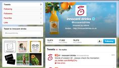 The layout of the Innocent twitter page is clean with no hidden surprises, the tone of voice is the same on all the packaging, labels, social media websites and advertising. This promotes their brand message well throughout all advertising. I like Innocent because of their tone of voice and it makes me think they are a innocent brand.