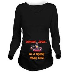 Kart Racing Long Sleeved Maternity Tee - Coming Soon To A Track Near You