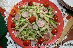 Receita de Salada de Peito de Peru com Rabanete