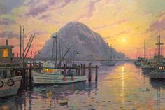 I love this picture from Thomas Kinkade.  It is of Morro Bay California. My favorite place in the world!