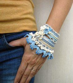 Manschette Armband häkeln Armband Manschette Manschette