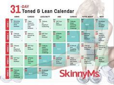 Download your FREE 31 Day Toned & Lean Fitness Calendar for the 31-Day Get Toned & Lean Challenge. Start getting toned and lean now! skinnyms.com/...