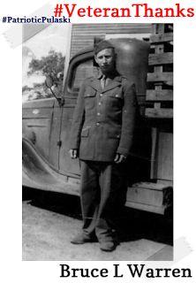 #PatrioticPulaski thanks Bruce L. Warren for his service! #VeteranThanks #PulaskiCountyUSA #ReuniteInPulaski #Army