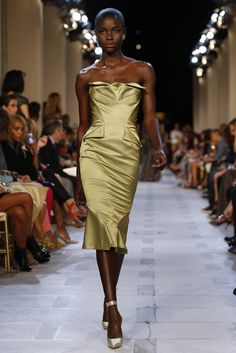 Zac Posen RTW Spring 2013 - loving the hair and her skin is gorgeous!