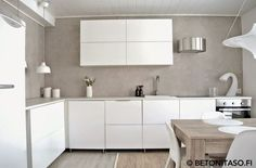 With All My Love: Vihdoinkin! Kitchen Interior, Modern Interior, Interior Design, Beach Kitchens, Cool Kitchens, Kitchen Views, Küchen Design, Kitchen Dining, Furniture Design