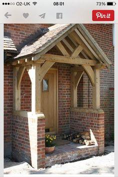 Oak framed with brick plinths