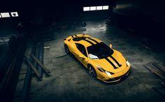 フェラーリ458特別, 2016年, 黄色のフェラーリ, スーパーカー, スポーツカー