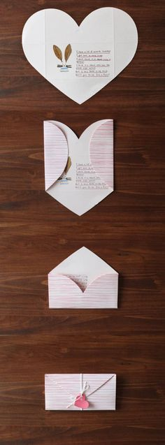 The *Pink Stripe Love Letter* is a beautiful and unique card. The Pink Stripe Love Letter includes 2 letters, 2 gift tags and 1 string. The Pink Stripe Love Letter features beautiful envelope card that is also a letter! The front of the envelope c...