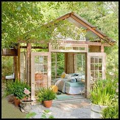 Too open to be called a shed; too closed to be called a pergola. Whatever it might be called, I think it's beautiful. I could use it as a cabana, writers retreat, day spa...  Need a backyard getaway? You might find here ---> http://theownerbuildernetwork.co/mzpe  What would you use it for?