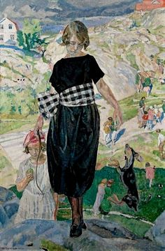 Carl Wilhelm Wilhelmson (Swedish, 1866-1928) - The Jumping Dog, 1920