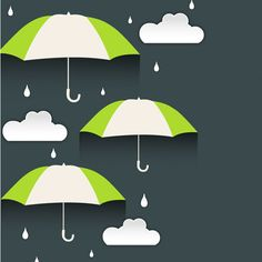 Rainy Day Umbrella Vector Background - http://www.dawnbrushes.com/rainy-day-umbrella-vector-background/