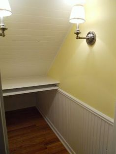 Trendy Under The Stairs Closet Office Staircases Ideas Office Under Stairs, Closet Under Stairs, Home Office Closet, Closet Desk, Room Closet, Stairs In Living Room, House Stairs, House 2, Alcove Desk