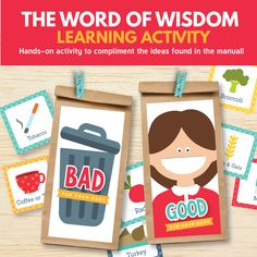 The Word of Wisdom (Primary 3 Lesson 14) - printable teaching helps with the BEST learning activities! www.theredheadedhostess.com