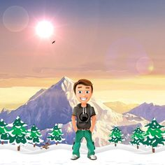 """Me in cartoon... thanks to Fiverr user """"frmistu"""" for drawing such a nice cartoon figure! :)"""