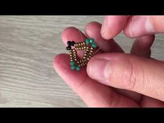 Making My Own Design Crystal Frame Model (Necklace, Bracelet, Earring, Ring) Beaded Rings, Gemstone Rings, Beaded Bracelets, Beading Projects, Beading Tutorials, Beaded Jewelry Patterns, Beading Patterns, Bracelet Tutorial, Bead Weaving