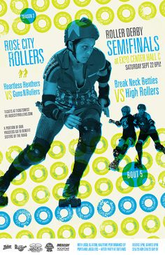 Rose City Rollers bout poster.