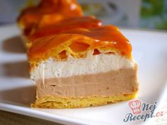 Karamelový větrník z plechu Sweet Recipes, Cake Recipes, Dessert Recipes, Torte Recepti, Mousse Cake, Graham Crackers, Food To Make, Sweet Tooth, Cheesecake
