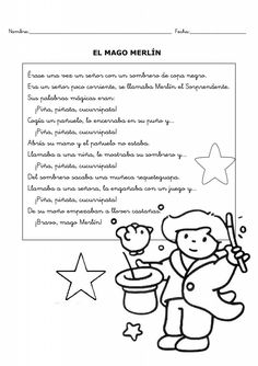 El mago Merlín 1 Merlin, Bullet Journal, Comics, Words, Texts, Magick, Magic Words, Note Cards, Learning