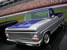 1969 Ford Truck Blue & Silver