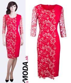 krátke červené spoločenské šaty - trendymoda.sk