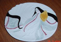 SIGMA THE TASTESETTER TASTE SETTER KABUKI OVAL DINNER PLATE ORIENTAL RARE EC
