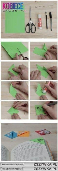 Instukcje do zrobienia prostej zakładki do książki :)