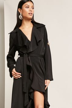 Drape Front Duster Jacket