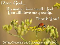 Thank You for Your love God!