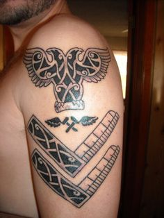 Masonic Eagle Knotwork Tattoo  by *grandisamator1 on DeviantArt.com. Concept and information here: http://grandisamator1.deviantart.com/art/Masonic-Eagle-Knotwork-Tattoo-165633712?q=gallery%3Agrandisamator1%20randomize%3A1=1