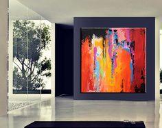 Large Abstract minimalist Art Canvas by ModernArtHomeDecor on Etsy