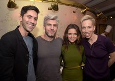 Max Joseph and Nev Schulman Photos Photos - (L-R) Executive producer/host Nev Schulman, Catfish host Max Joseph, actress Katie Stevens, and Suspect host iO Tillett Wright attend the MTV Press Junket & Cocktail Party at The London West Hollywood on February 18, 2016 in West Hollywood, California. - MTV Press Junket & Cocktail Party
