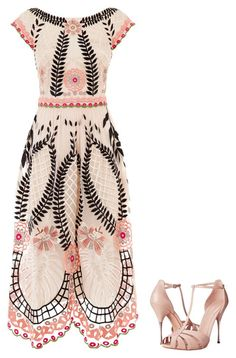 """Untitled #1289"" by elizabeth302 ❤ liked on Polyvore featuring Temperley London and Alexander McQueen"