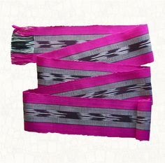 Woven Ikat Sash  Bold Black and White Stripe by brizel4TheAnimals