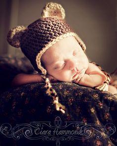 Baby bear hat.  Sooo sweet!