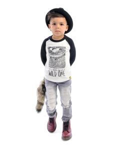 Wild One tee, Strummer Jeans and Freddy Fedora | Rock Your Kid winter 2014 | www.rockyourbaby.com