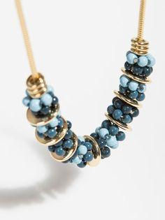 Collar Smooth Stones, Azul Claro
