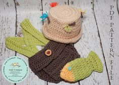 CROCHET PATTERN 110 - Crochet Fly Fishing hat, Diaper cover, Suspenders and Fish prop  - Not a finished product - PDF pattern file on Etsy, $7.50