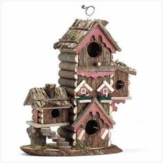 Rustic Gingerbread Style Bird House | Home Goods Galore