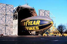 Goodyear Blimp hangar Goodyear Blimp, Goodyear Tires, Reverse Thrust, Zeppelin, Ohio, Fighter Jets, Aviation