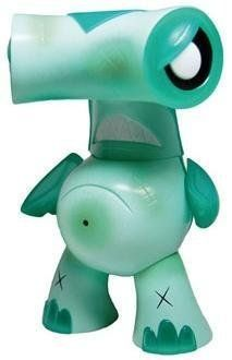 "TEAL Edition Hammerhead Designer Vinyl Figure by Joe Ledbetter from the 'Kaiju For Grown Ups Collection' by Wonderwall Toys. $39.95. Designer: Joe Ledbetter. Medium: Vinyl. Height: 6"". Edition: 300. This is the TEAL Edition Hammerhead Designer Vinyl Kaiju Figure designed by Joe Ledbetter and produced by Wonderwall Toys for the 'Kaiju For Grown Ups Collection.' Stands 6"" tall and is limited to only 300."