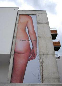 Screen Ostflanke #fassadenwerbung Plank, Architecture, Planks