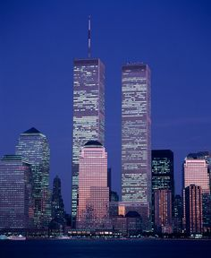 On April 1973 the New York City skyline dramatically changed. It was on that day, 40 years ago, that the original World Trade Center site officially opened. The Twin Towers, seen here in were an iconic part of the skyline. World Trade Towers, World Trade Center Nyc, Trade Centre, Nyc Skyline, Manhattan Skyline, Lower Manhattan, Amsterdam, Moving Photos, Haunting Photos